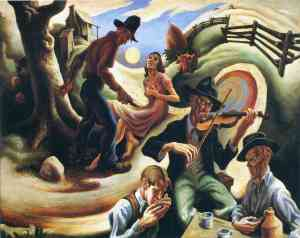 Thomas Hart Benton Lone Green Valley