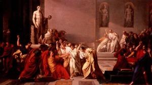 Vincenzo Camuccini (Italian), La Morte di Cesare, 1804-5, oil on canvas, Galleria Nazionale d'Arte Moderna, Rome.