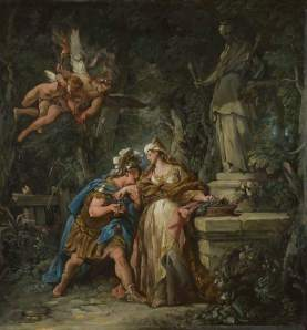 Jean-François de Troy (French), Jason Swearing Eternal Affection to Medea, 1742-3, oil on canvas, 56.5 x 52.1 cm, The National Gallery, London.
