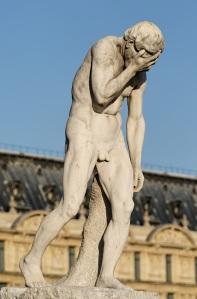 Henri Vidal, Cain, marble, 1896, Jardins des Tuileries, Paris.