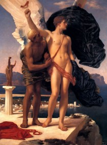 Lord Frederic Leighton (British), Icarus and Daedalus, c. 1869, oil on canvas, 54.4 × 41.9 in, private collection.