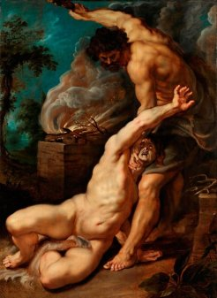Peter Paul Rubens (Flemish), Cain Slaying Abel, 1608-9, oil on oak panel, 131.2 x 94.2 cm., Courtauld Institute of Art, London.