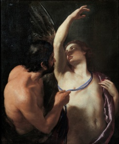 Andrea Saachi (Italian), Daedalus and Icarus, c. 1645, oil on canvas, 58 x 46 in., Musei di Strada Nuova, Genoa.