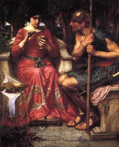 John William Waterhouse (British), Jason and Medea, 1907, oil on canvas, 105.4 x 131.4 cm, private collection.