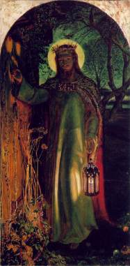 William Holman Hunt (British), The Light of the World, 1853-4, oil on canvas, 125 x 60 cm, Keble College, Oxford.