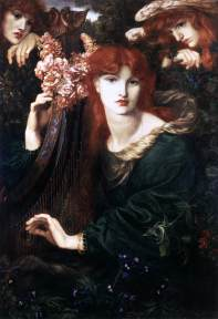 Dante Gabriel Rossetti (British), La Ghirlandata, 1873, oil on canvas, Guildhall Library and Art Gallery, London.