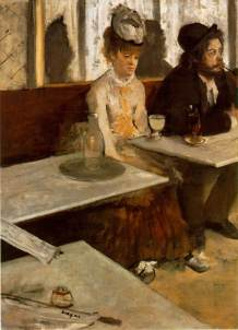 Click image to enlarge. Edgar Degas (French), In a Café, 1873, oil on canvas, 92 × 68.5 cm, Musée d'Orsay, Paris.