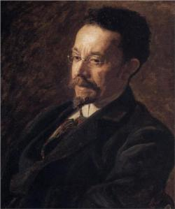 Thomas Eakins, Portrait of Henry O. Tanner, 1897, oil on canvas, Hyde Collection Art Museum, Glens Falls, NY.