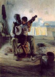 Click image to enlarge. Henry Ossawa Tanner, The Banjo Lesson, 1893, oil on canvas, 124.5 × 90.2 cm, Hampton University Museum, Hampton, VA.