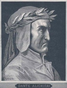 Click image to enlarge. Gustave Doré (French), Portrait of Dante Alighieri, 1860, engraving, Central Saint Martins College of Art and Design, London.