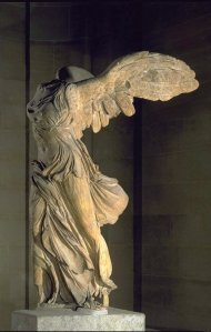 Click image to enlarge. Nike of Samothrace.
