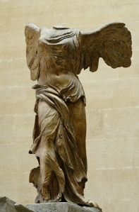 Click image to enlarge. Nike of Samothrace, view of front.