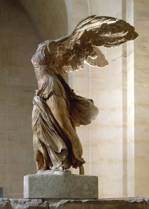 Click image to enlarge. Nike of Samothrace, view of right side.