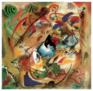 Click image to enlarge. Wassily Kandinsky (Russian), Improvisation, Dreamy, 1913, oil on canvas, 130.7 x 130.7 cm, Stadtische Galerie, Munich.