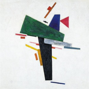 Click image to enlarge. Kazimir Malevich (Russian), Untitled, c. 1916, oil on canvas, 53 x 53 cm, Guggenheim, New York.