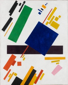 Click image to enlarge. Kazimir Malevich (Russian), Suprematist Composition, 1916, oil on canvas, 88.5 x 71 cm, private collection.
