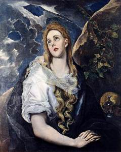 El Greco (Spanish, born Greek), The Penitent Magdalene, c. 1580-85, oil on canvas, 101.6 x 81.92 cm, The Nelson-Atkins Museum of Art, Kansas City.