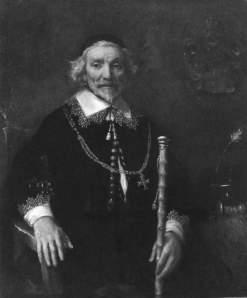Image taken from Omaha World Herald. Click to enlarge. Rembrandt van Rijn, called Rembrandt (Dutch), Portrait of Dirck van Os, c. 1662, oil on canvas, 103.505 x 87.63 cm, Joslyn Art Museum, Omaha.