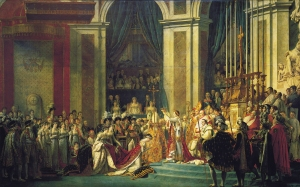 Click image to enlarge. Jacques-Louis David (French), The Coronation of Napoleon, c. 1804, oil on canvas, 621 x 979 cm, Musée du Louvre, Paris.