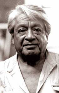 Photograph of Oswaldo Guayasamin.