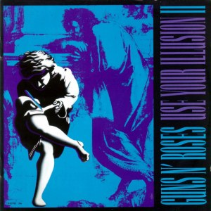 Click image to enlarge. Cover art for Use Your Illusion II, album by Guns N' Roses, 1991.