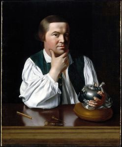 Click image to enlarge. John Singleton Copley (American), Portrait of Paul Revere, 1768, oil on canvas, 89.22 x 72.39 cm, Museum of Fine Arts, Boston.