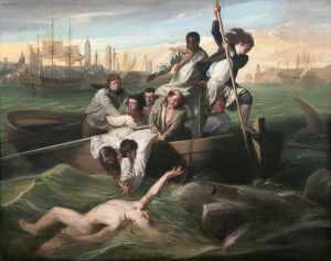Click image to enlarge. John Singleton Copley (American), Watson and the Shark, 1778, oil on canvas, 182.1 x 229.7 cm, National Gallery of Art, Washington, D.C.