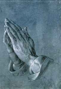 Click image to enlarge. Albrecht Dürer (German), Study of Praying Hands, c. 1508, pen and ink drawing, 29.1 cm × 19.7 cm, Albertina Museum, Vienna.