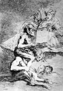 "Click image to enlarge. Francisco de Goya (Spanish), Los caprichos, plate 70, Devota profesion, ""Devout Profession,"" 1797-99, etching, 306 x 201 mm, Museo Nacional del Prado, Madrid."